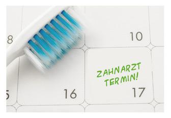 Erinnerung Zahnkontrolle